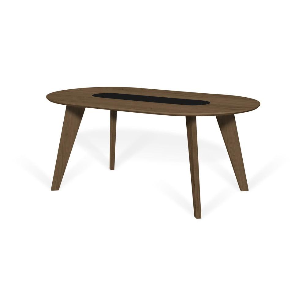 Jedálenský stôl s dyhou orecha a mramorovým prvkom TemaHome