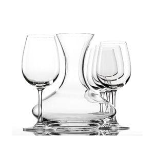 Set 4 pohárov a dekantéru na víno Weinland