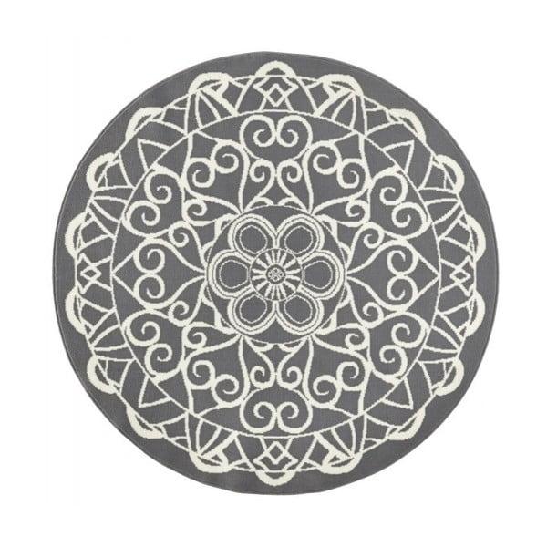 Sivý okrúhly koberec Zala Living Capri, ø140cm