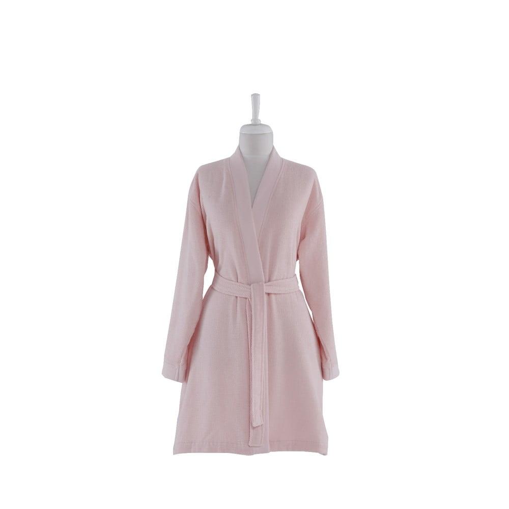 Ružový bavlnený župan Bella Maison Smart, vel. L/XL