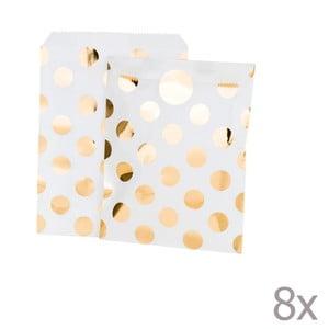Sada 8 papierových vrecúšok Talking Tables Metalic
