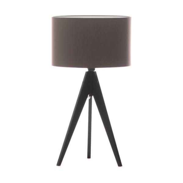 Hnedá stolová lampa Artist, čierna lakovaná breza, Ø 33 cm
