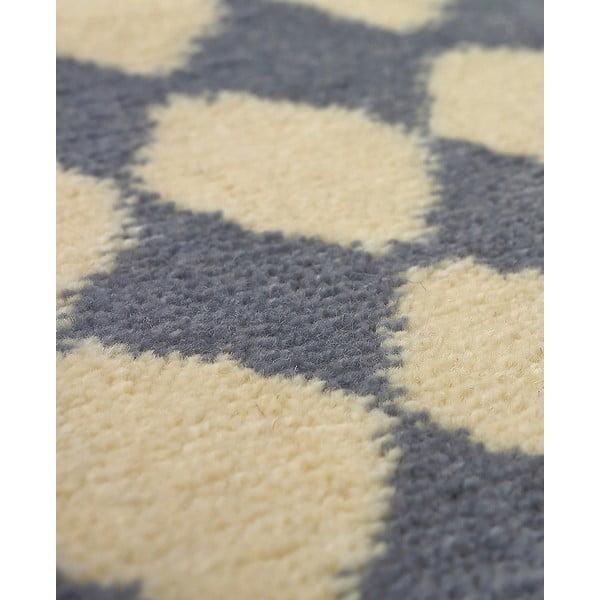 Vlnený koberec Oslo no.3, 140x200 cm, sivý