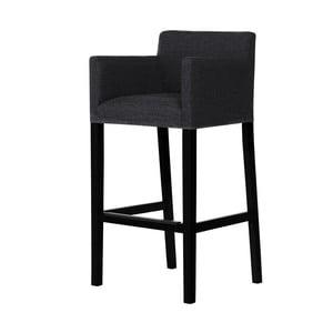 Čierna barová stolička s čiernymi nohami Ted Lapidus Maison Sillage