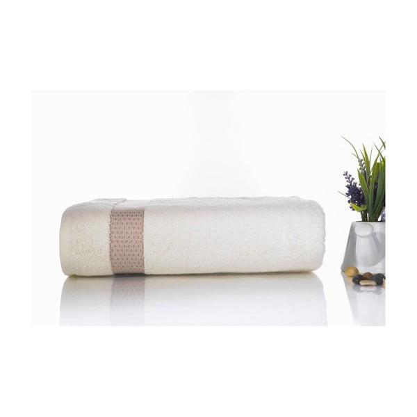 Hnedo-biela bavlnená osuška Ladik Alice, 70 x 140 cm