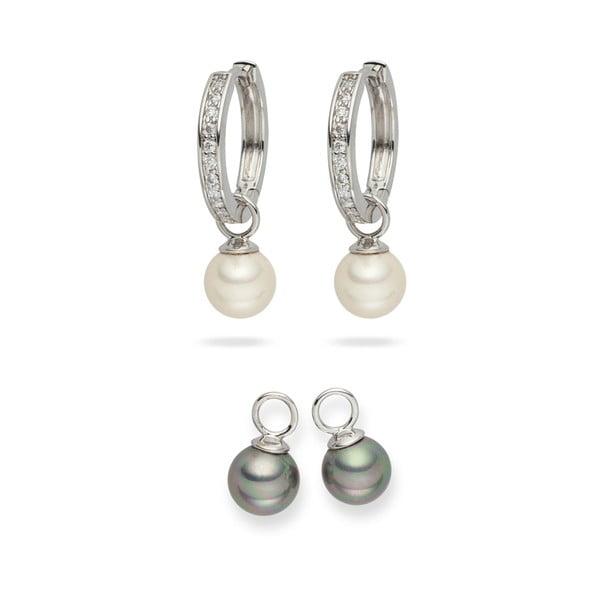 Sada 2 perlových náušníc Nova Pearls Copenhagen Celine
