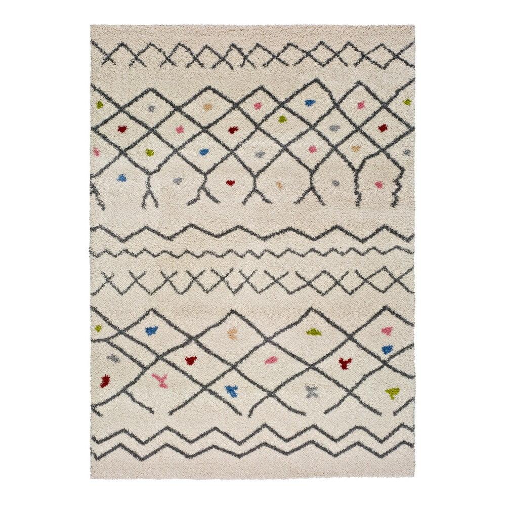 Biely koberec vhodný aj do exteriéru Universal Kasbah Puro, 133 x 190 cm