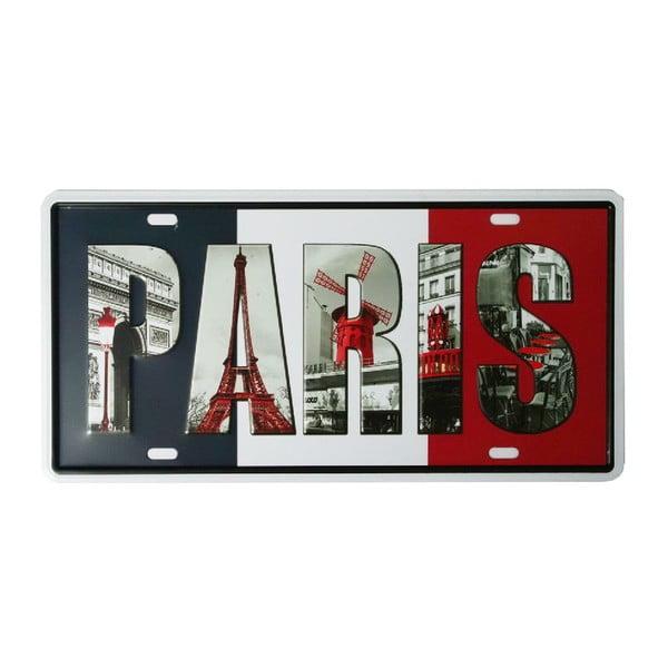 Ceduľa Paris, 15x30 cm