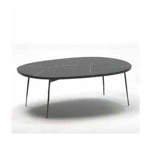 Konferečný stolík s mramorovou doskou Thai Natura Loes, dĺžka100 cm