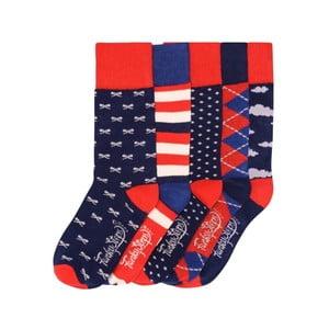 Sada 5 párov farebných ponožiek Funky Steps Johny, veľ. 35-39