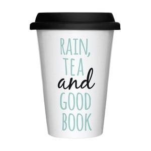Porcelánový hrnček na cesty Rain & Tea, 300 ml