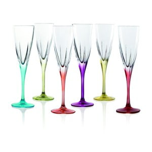 Sada 6 pohárov na sekt RCR Cristalleria Italiana Gemma