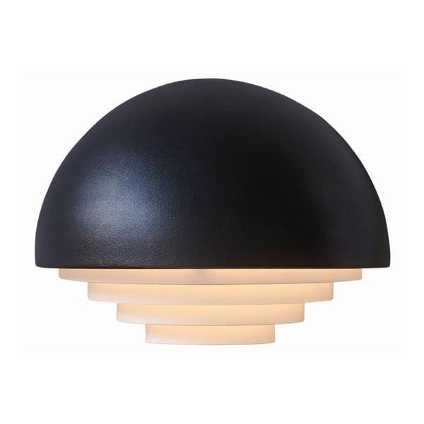 Čierne nástenné svetlo Herstal Motown