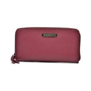 Červená kožená listová kabelka Mangotti Landallo
