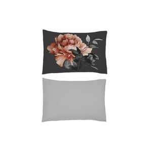 Sada 2 obliečok na vankúš s prímesou bavlneného perkálu a saténu L'Officiel Interiors Mahina, 50 × 70 cm