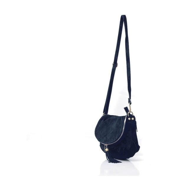 Kožená kabelka Louise, tmavo modrá