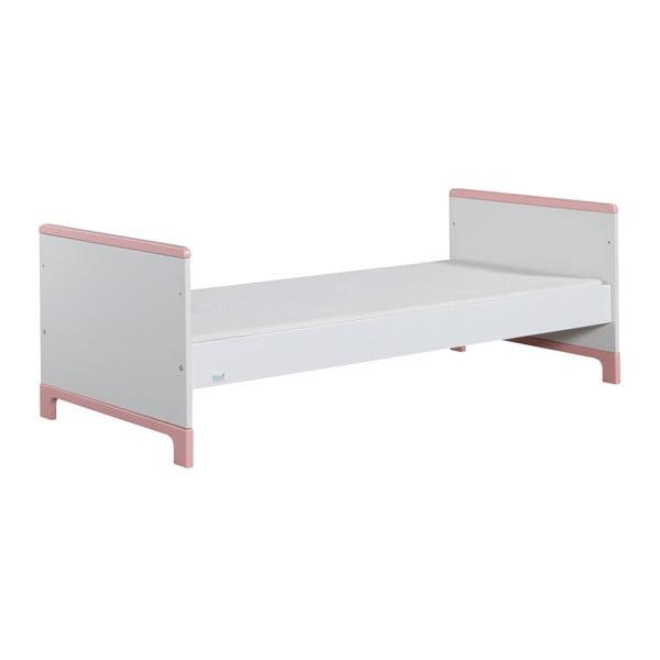 Bielo-ružová detská posteľ Pinio Mini, 160×70cm