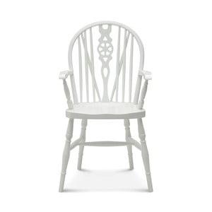 Biela drevená stolička Fameg Ib