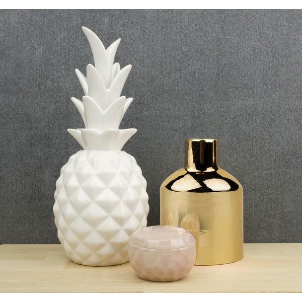 Keramická dekorácia Novoform Pineapple, biela