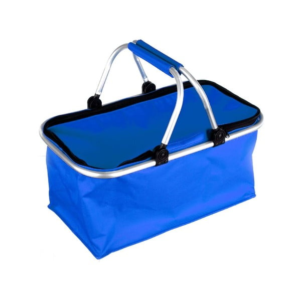 Prenosný nákupný košík Vetro, modrý