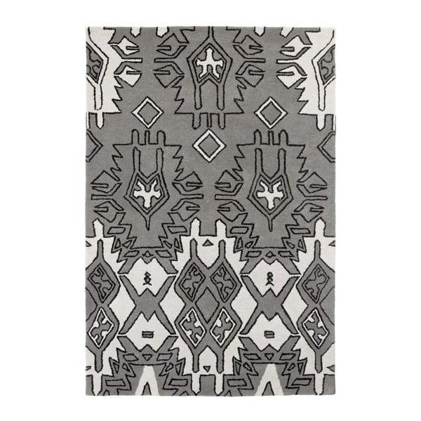 Sivo-strieborný ručne tkaný koberec Think Rugs Spectrum, 120 x 170 cm