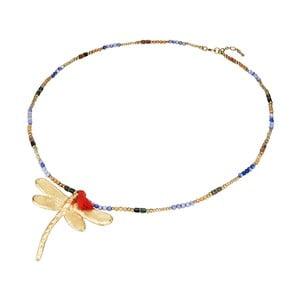 Dámsky náhrdelník v zlatej farbe Tassioni Dragonfly