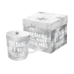 Porcelánový hrnček s vianočným motívom v darčekovom balení PPD Dreaming of Christmas, 350 ml