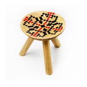 Ručne maľovaná stolička Iara, 28 cm