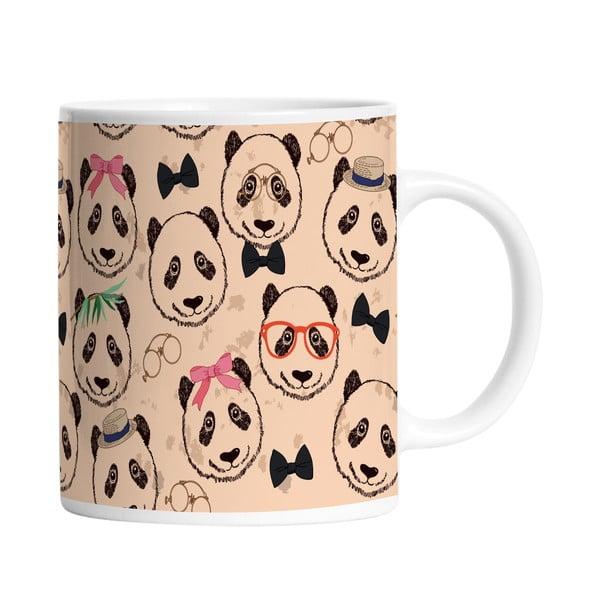 Keramický hrnček Panda Crew, 330 ml