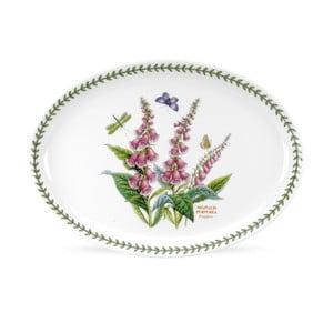 Oválný tanier z porcelánu Portmeirion Foxglove, šírka 33 cm