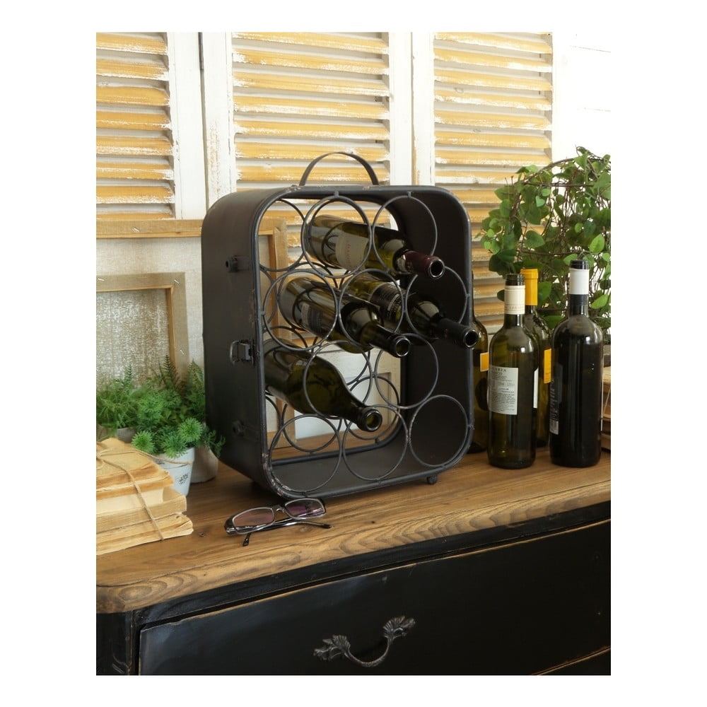 Čierny železný stojan na víno Orchidea Milano