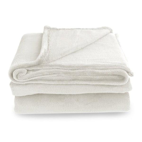 Krémová deka z mikrovlákna DecoKing Mic, 160×210cm