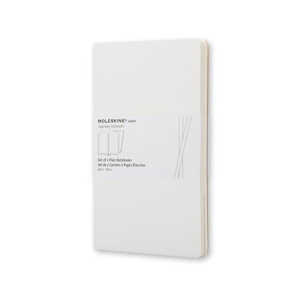 Extra veľký biely zápisník Moleskine Volant, bezlinajok