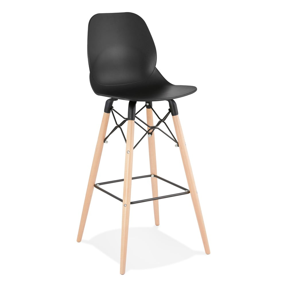 Čierna barová stolička Kokoon Marcel, výška sedu 75 cm
