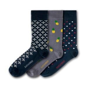 Sada 3 párov unisex ponožiek Black&Parker London Lost Gardens of Heligan, veľkosť 37 - 43