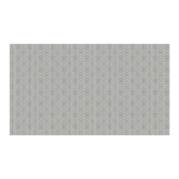 Vinylový koberec Ghazal Silver, 52x120 cm