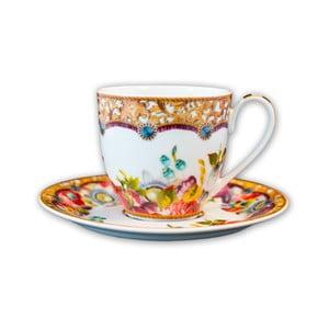 Porcelánová šálka s tanierikom Melli Mello Flowers, 150ml