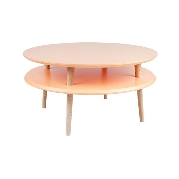Konferenčný stolík UFO 35x70 cm, oranžový