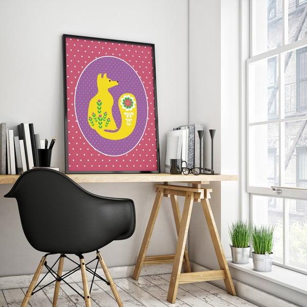 Plagát Lišiak žltý, veľký