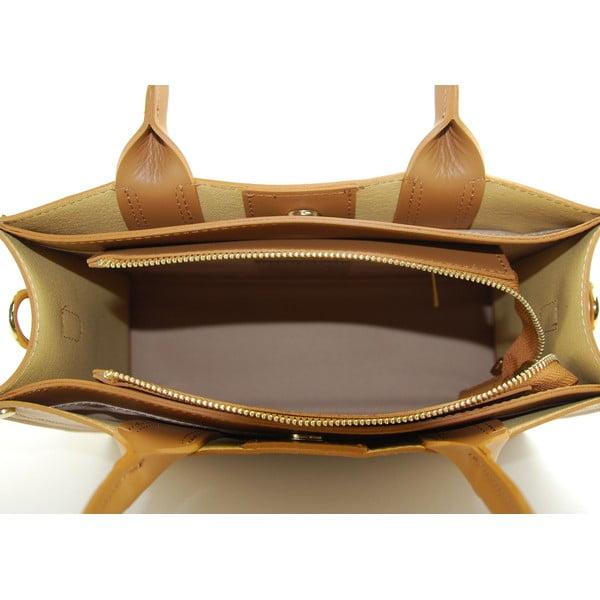 Kožená kabelka Entana Cognac