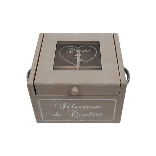 Drevená krabica na čaj Selection