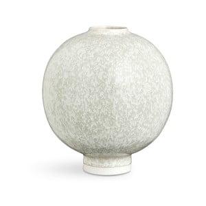 Svetlozelená porcelánová váza Kähler Design Unico, výška 17 cm