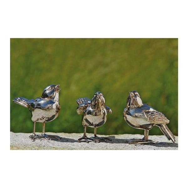 Sada 3 dekoratívnych vtáčikov Birds