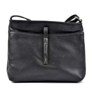 Čierna kožená kabelka Roberta M Tarro Nero