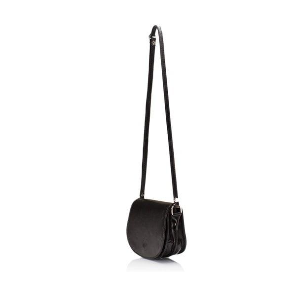 Čierna kožená kabelka Giulia Massari Gitte