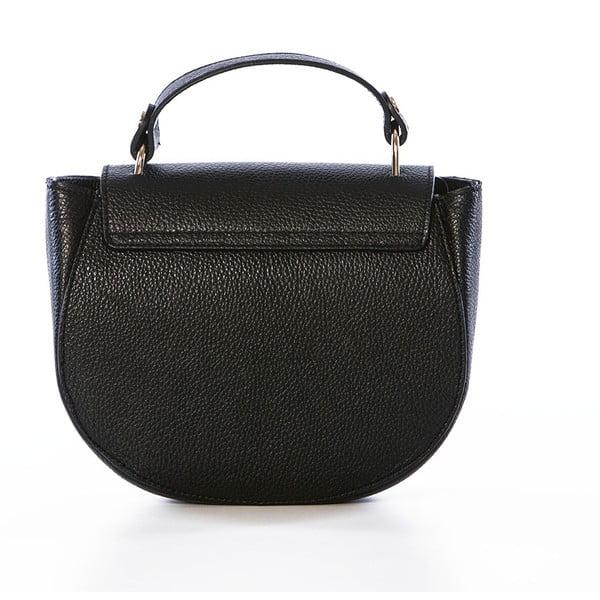 Čierna kožená kabelka Federica Bassi Virgin