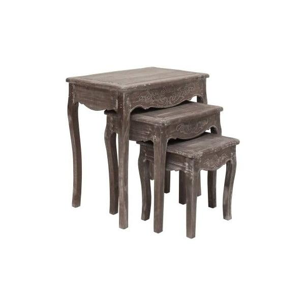 Sada 3 stolíkov Kamill, 42x66x63 cm