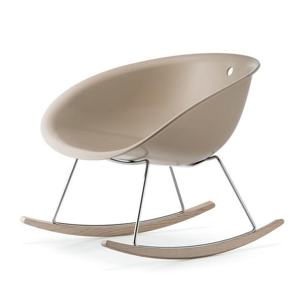Béžová hojdacia stolička Pedrali Gliss