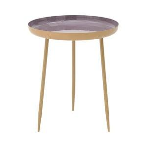 Fialový kovový odkladací stolík InArt Simplo, ⌀46 cm