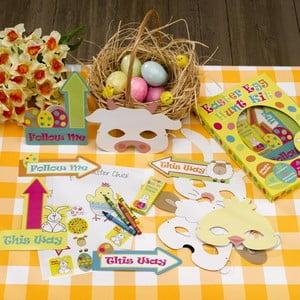 Papierová veľkonočná hra pre deti Neviti Easter Craft Egg Hunt Kit